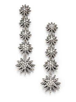 David Yurman - Diamond and Sterling Silver Graduated Starburst Earrings