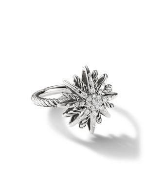 Starburst Small Ring with Diamonds