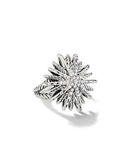 David Yurman - Diamond & Sterling Silver Star Ring