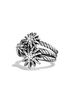 David Yurman - Starburst Cluster Ring with Diamonds