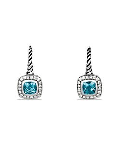 David Yurman - Blue Topaz, Diamond & Sterling Silver Drop Earrings