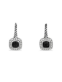 David Yurman - Black Onyx, Diamond & Sterling Silver Drop Earrings