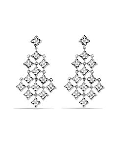 David Yurman - Diamond & Sterling Silver Chandelier Drop Earrings