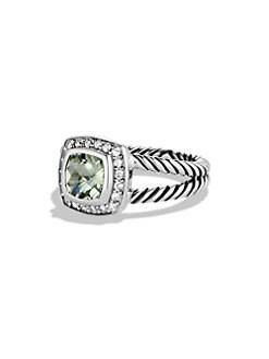 David Yurman - Petite Albion Ring with Prasiolite and Diamonds