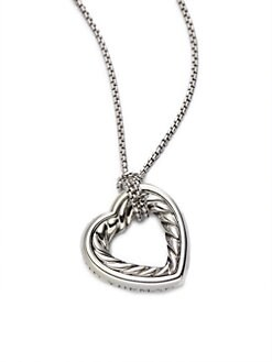 David Yurman - Sterling Silver Open Heart Necklace