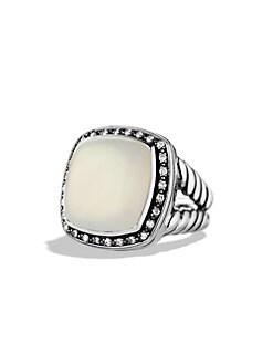 David Yurman - Albion Ring with Moon Quartz and Diamonds