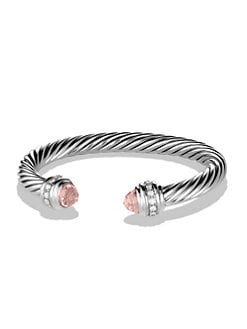 David Yurman - Morganite, Diamond & Sterling Silver Cuff Bracelet