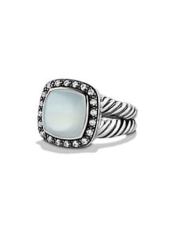 David Yurman - Milky Moon Quartz, Diamond & Sterling Silver Ring
