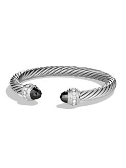 David Yurman - Diamond Accented Hematite Cable Cuff Bracelet