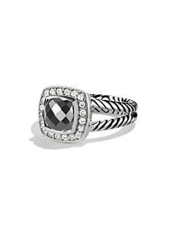 David Yurman - Diamond Accented Hematite Sterling Silver Ring