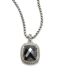 David Yurman - Diamond Accented Hematite Pendant Necklace