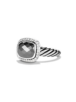 David Yurman - Diamond Accent Hematite Ring