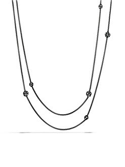 David Yurman - Diamond and Sterling Silver Chain Necklace