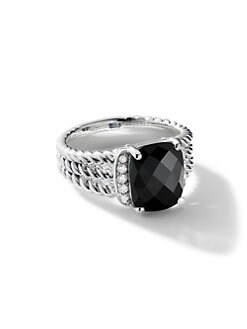 David Yurman - Diamond Accented Amethyst Cable Ring