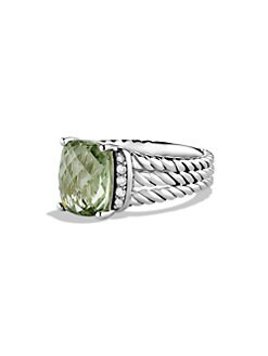 David Yurman - Diamond Accented Prasiolite Ring