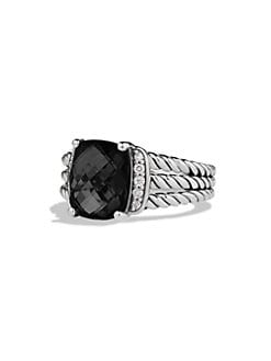 David Yurman - Diamond Accented Black Onyx Ring