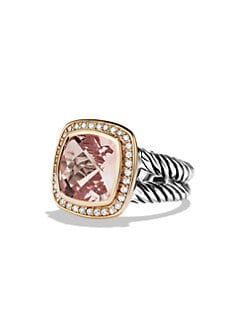 David Yurman - Albion Ring with Morganite, Diamonds, and Rose Gold