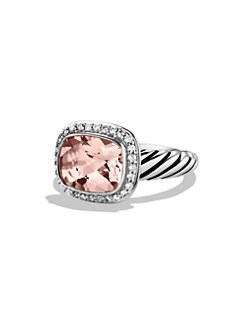 David Yurman - Morganite, Diamond & Sterling Silver Ring