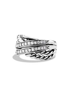 David Yurman - Diamond Crossover Ring