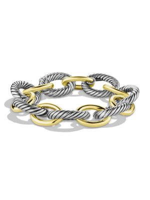 Extra-Large Oval Link Bracelet with 18K Yellow Gold