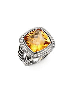 David Yurman - Citrine, Diamond & Sterling Silver Ring
