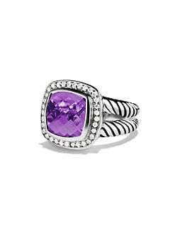 David Yurman - Amethyst, Diamond & Sterling Silver Ring
