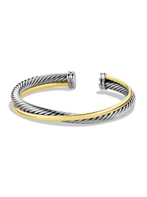 Crossover Cuff Bracelet with Gold