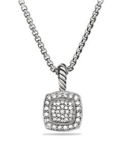 David Yurman - Diamond & Sterling Silver Necklace