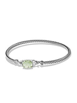 David Yurman - Prasiolite, Diamond and Sterling Silver Bracelet