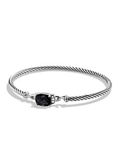 David Yurman - Diamond Accented Black Onyx Cable Bangle Bracelet