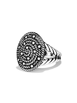 David Yurman - Cable Coil Ring with Diamonds