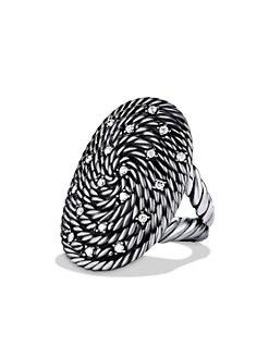 David Yurman - Diamond Accented Sterling Silver Ring