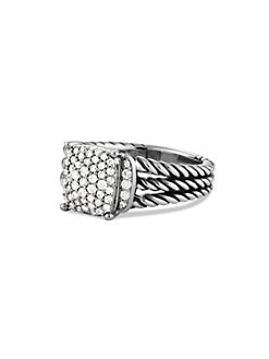 David Yurman - Sterling Silver Diamond Ring