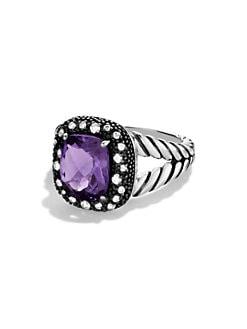 David Yurman - Midnight Melange Ring with Amethyst and Diamonds