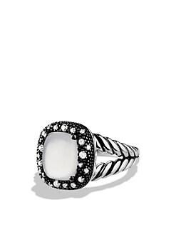 David Yurman - Midnight Melange Ring with Moon Quartz and Diamonds