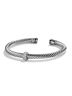 David Yurman - Diamond & Sterling Silver Cuff Bracelet