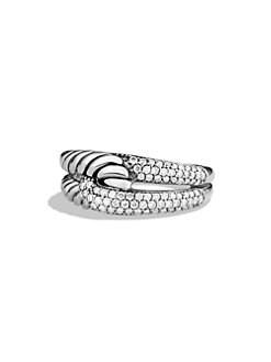 David Yurman - Labyrinth Single-Loop Ring with Diamonds