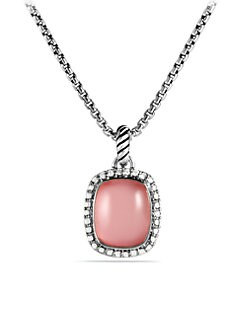 David Yurman - Diamond Accented Pink Mother-Of-Pearl Pendant Necklace