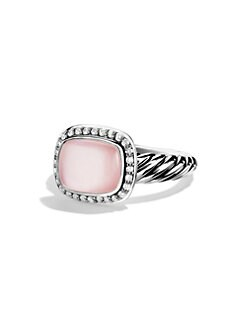David Yurman - Diamond Accented Pink Mother-Of-Pearl Ring