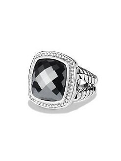 David Yurman - Hematite, Diamond & Sterling Silver Ring