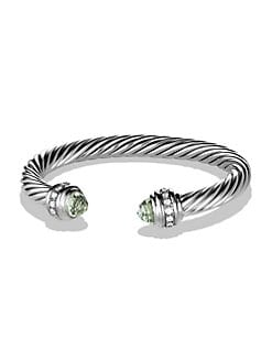 David Yurman - Diamond, Prasiolite & Sterling Silver Bracelet