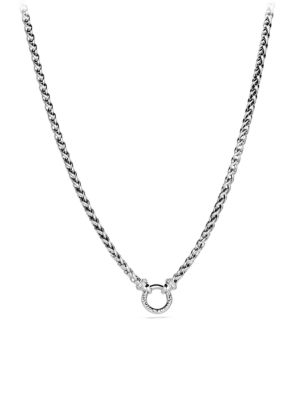 Wheat Chain Diamond & Sterling Silver Necklace