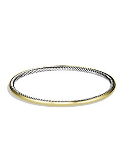 David Yurman - 18K Yellow Gold & Sterling Silver Cable Bracelet