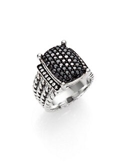 David Yurman - Black Diamond & Sterling Silver Ring