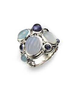 David Yurman - Diamond Accented Semi-Precious Multi Stone Cluster Ring