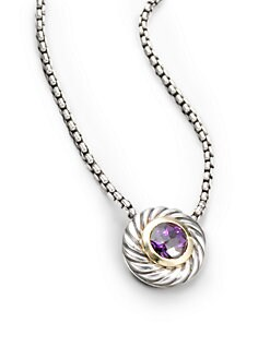 David Yurman - Amethyst & Sterling Silver Necklace