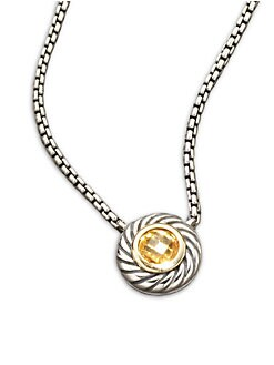 David Yurman - Citrine & Sterling Silver Necklace