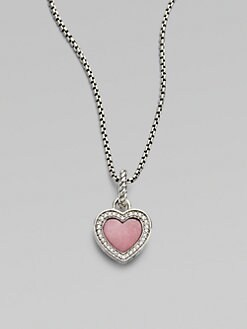 David Yurman - Diamond & Rhodanite Heart Enhancer