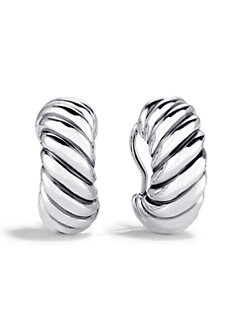 David Yurman - Sterling Silver Cable Earrings