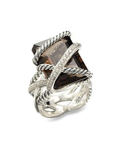 David Yurman - Smokey Quartz Sterling Silver Ring